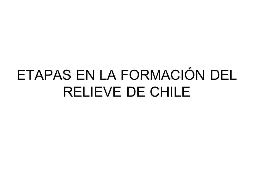 ETAPAS EN LA FORMACIÓN DEL RELIEVE DE CHILE