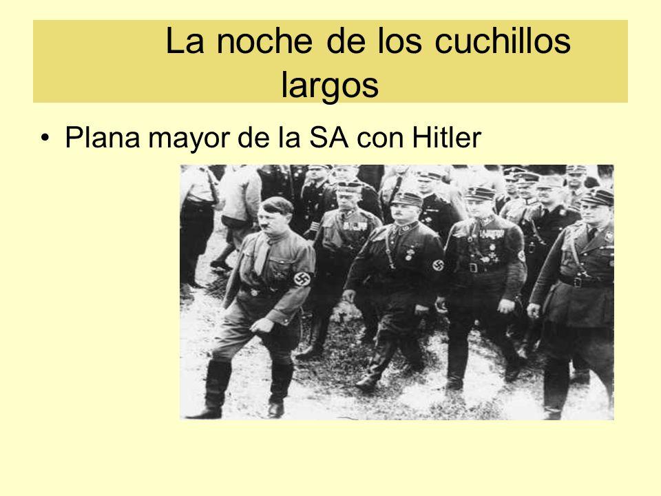 La noche de los cuchillos largos Plana mayor de la SA con Hitler