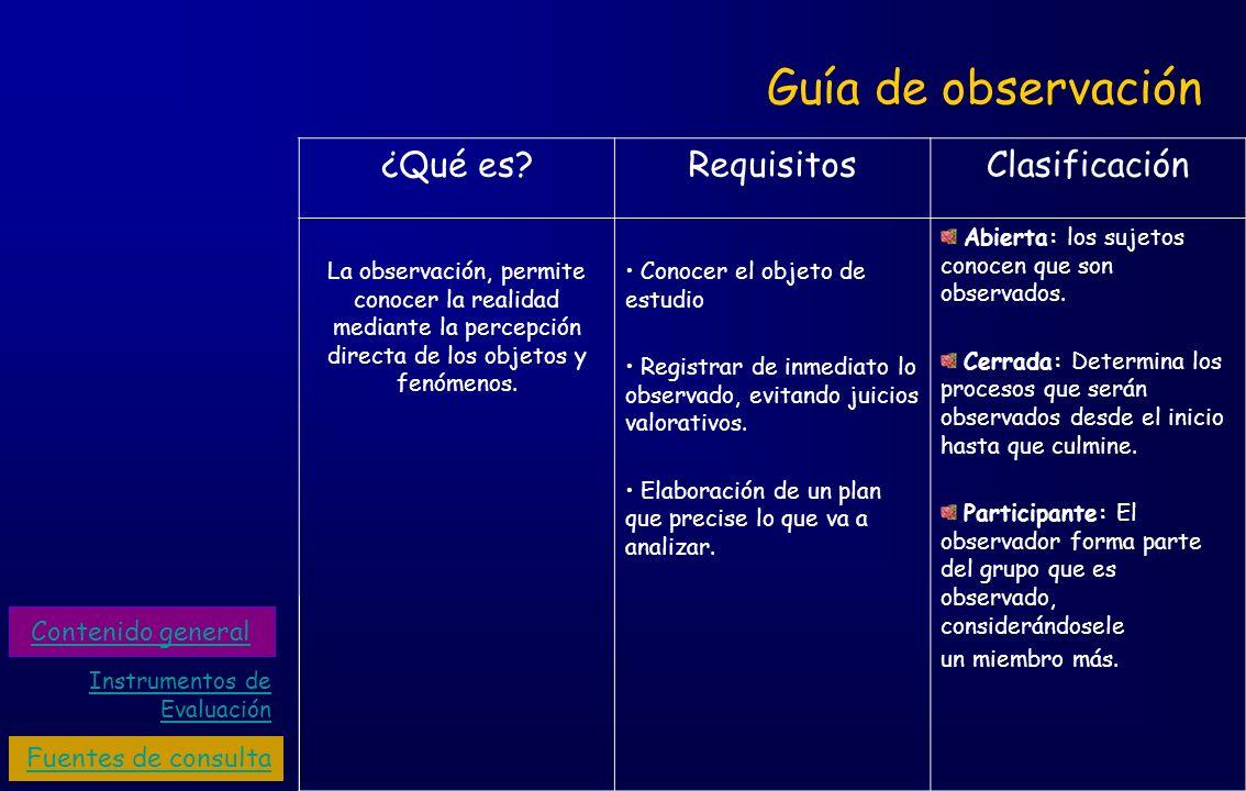 Guía de observación ¿Qué es?RequisitosClasificación La observación, permite conocer la realidad mediante la percepción directa de los objetos y fenóme