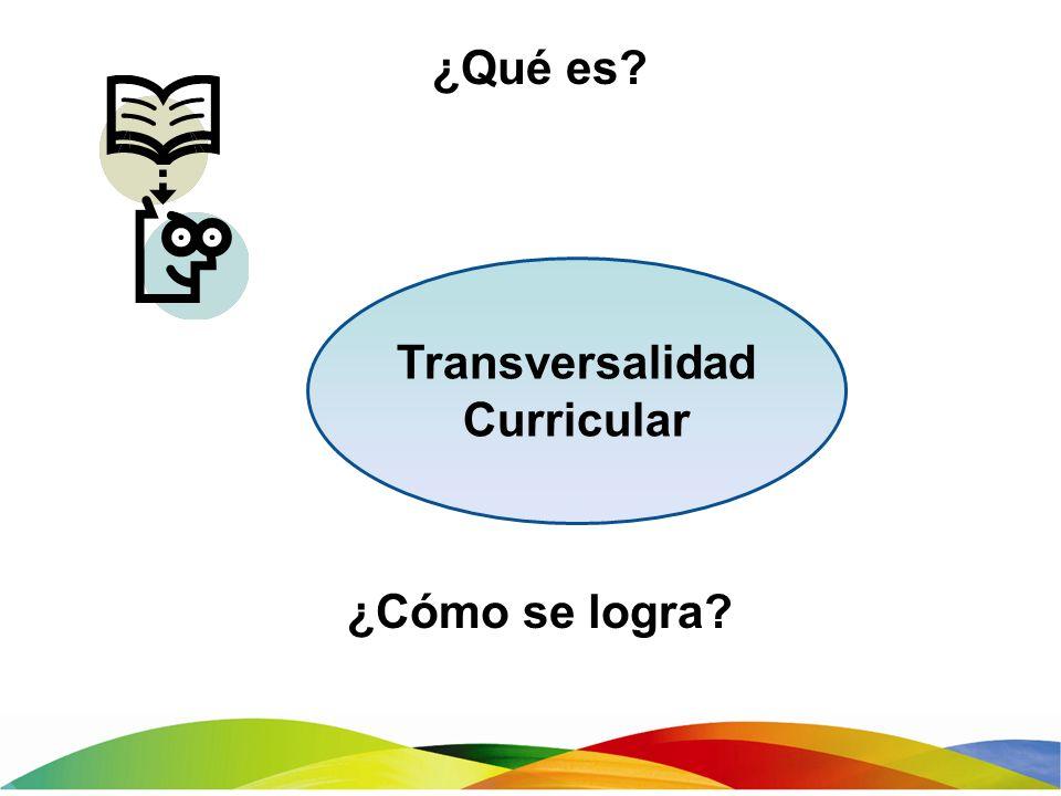 ¿Qué es? ¿Cómo se logra? Transversalidad Curricular