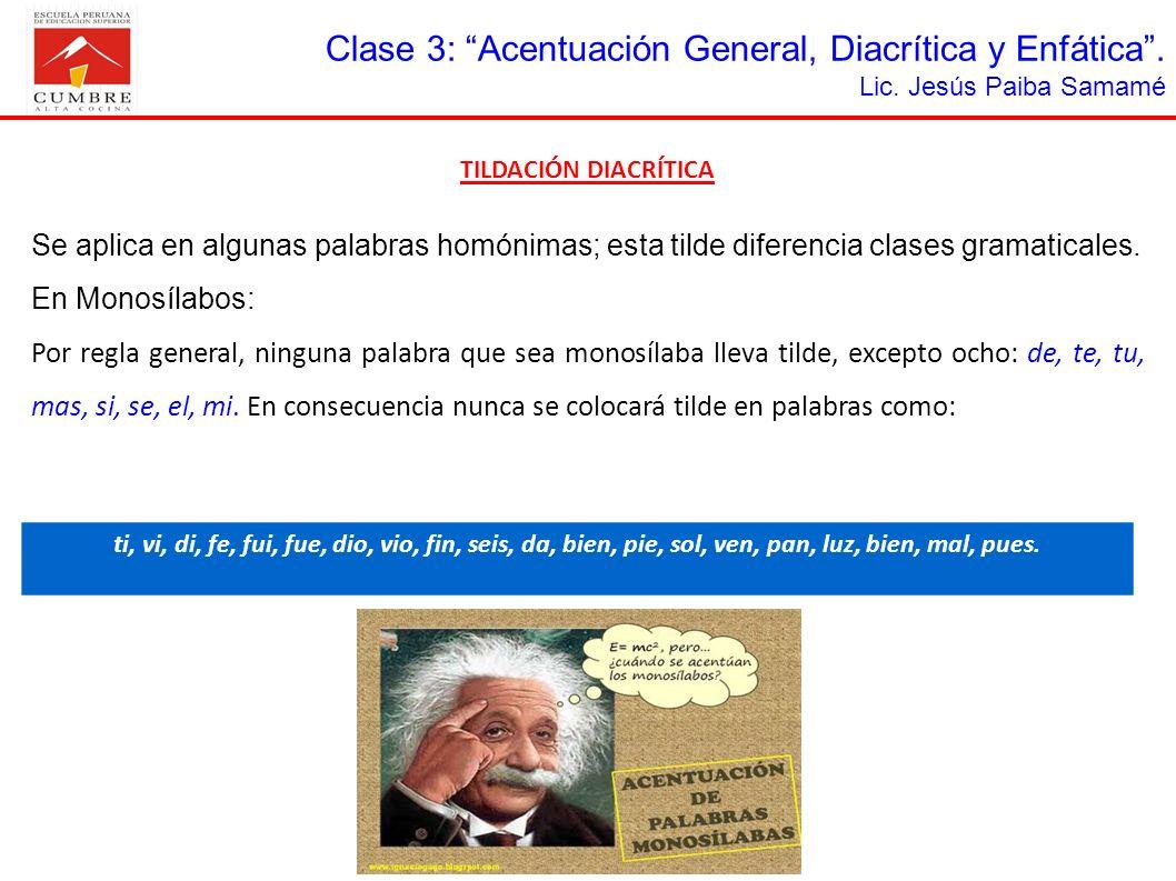 MonosílaboLLEVAN TILDENO LLEVAN TILDE EL Pronombre Él es un gran estudiante.