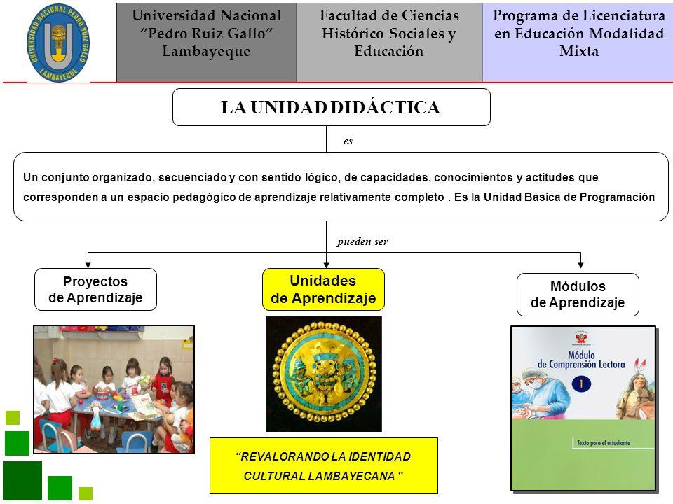 Universidad Nacional Pedro Ruiz Gallo Lambayeque Facultad de Ciencias Histórico Sociales y Educación Programa de Licenciatura en Educación Modalidad Mixta ÁREAS DE LA EBR POR NIVELES
