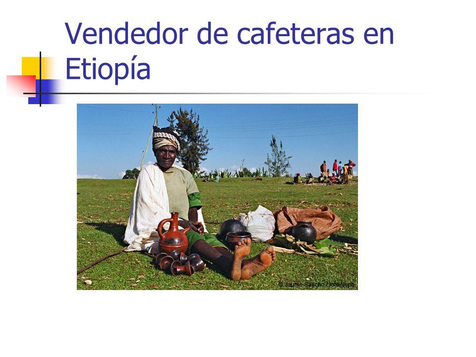 Vendedor de cafeteras en Etiopía