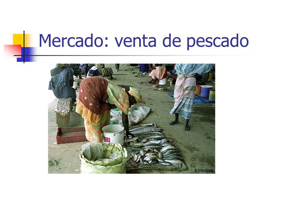Mercado: venta de pescado