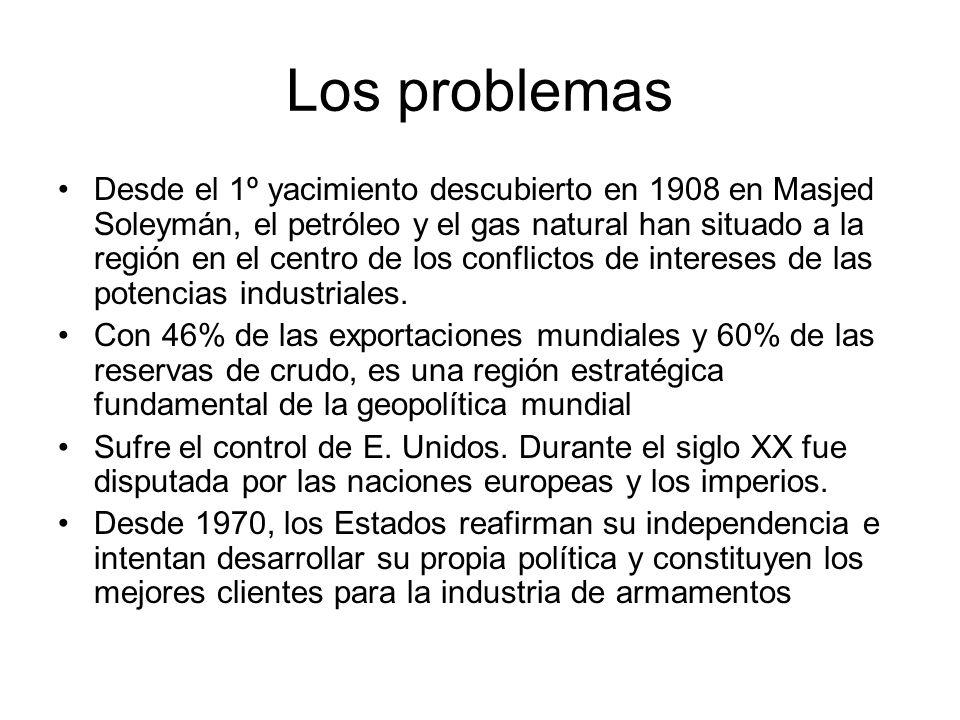 Los problemas Desde el 1º yacimiento descubierto en 1908 en Masjed Soleymán, el petróleo y el gas natural han situado a la región en el centro de los