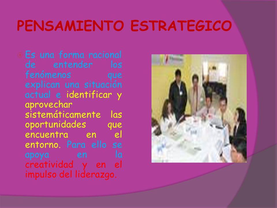 PLANEAMIENTO ESTRATEGICO Resultados del Momento Enunciativo: a) El documento redactado con la Misión y Visión y la identificación de los Productos.