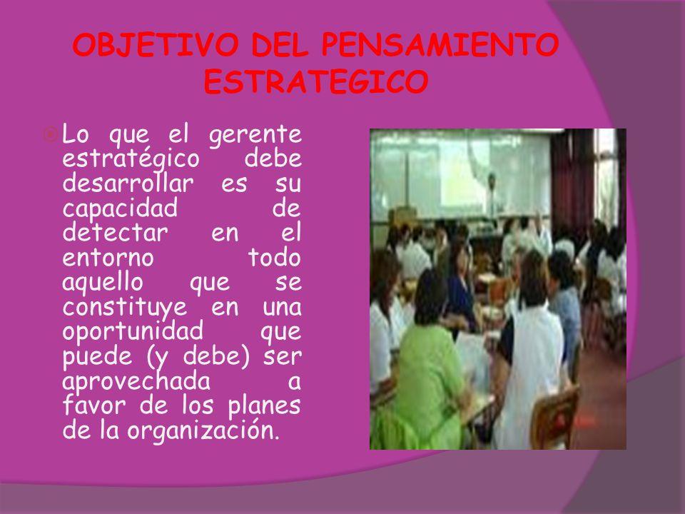 PROPOSITOS DEL PENSAMIENTO ESTRATEGICO Dar Dirección Establecer una Agenda para el Cambio y Desarrollo.
