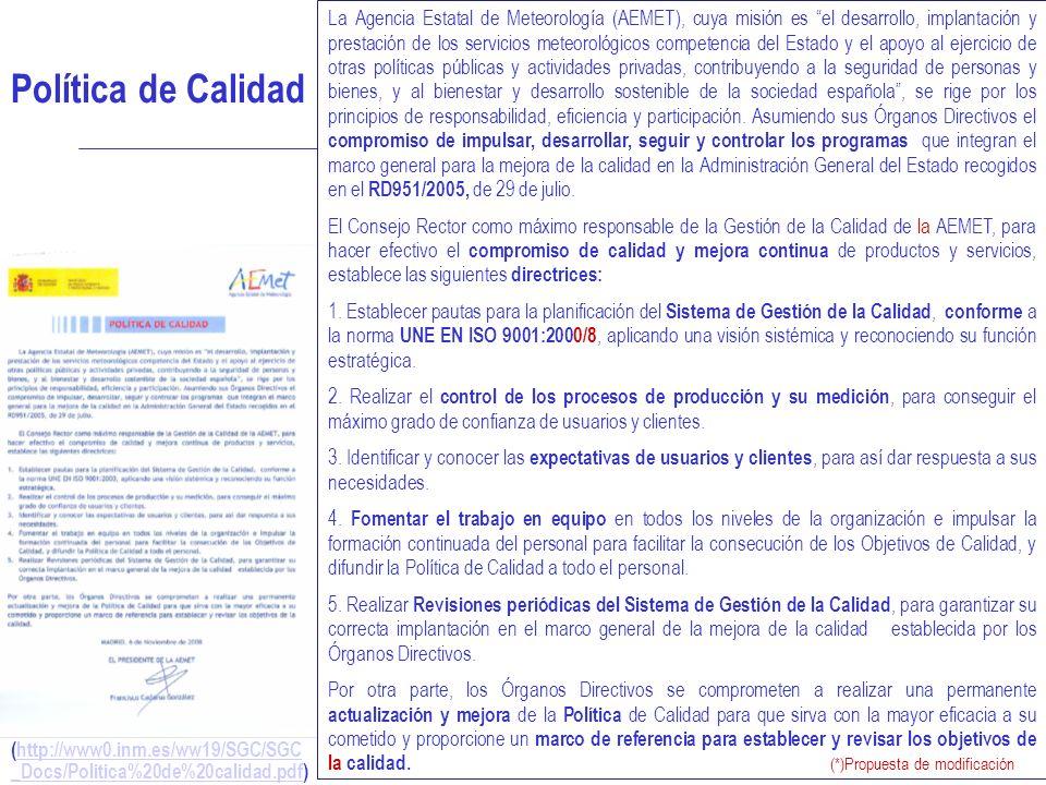 SISTEMA DE GESTIÓN DE LA CALIDAD 13 (http://www0.inm.es/ww19/SGC/SGC _Docs/Politica%20de%20calidad.pdf)http://www0.inm.es/ww19/SGC/SGC _Docs/Politica%