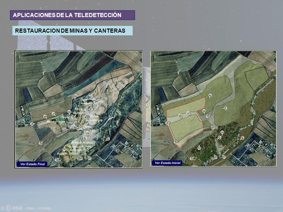 APLICACIONES DE LA TELEDETECCIÓN RESTAURACION DE MINAS Y CANTERAS