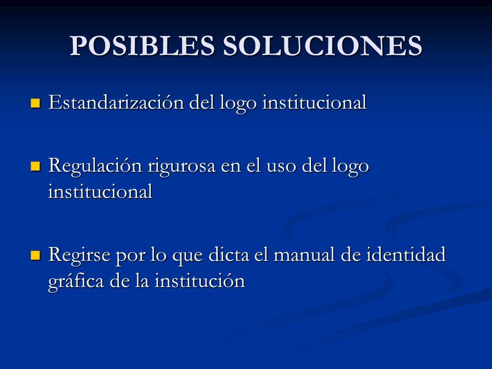 Dicho problema no se ha resuelto porque no ha habido una comunicación eficiente entre OIR y cada uno de los departamentos que conforman la institución sobre los estatutos que deben seguir en relación a los usos correctos del logotipo en los elementos de comunicación gráfica del Tecnológico de Monterrey.