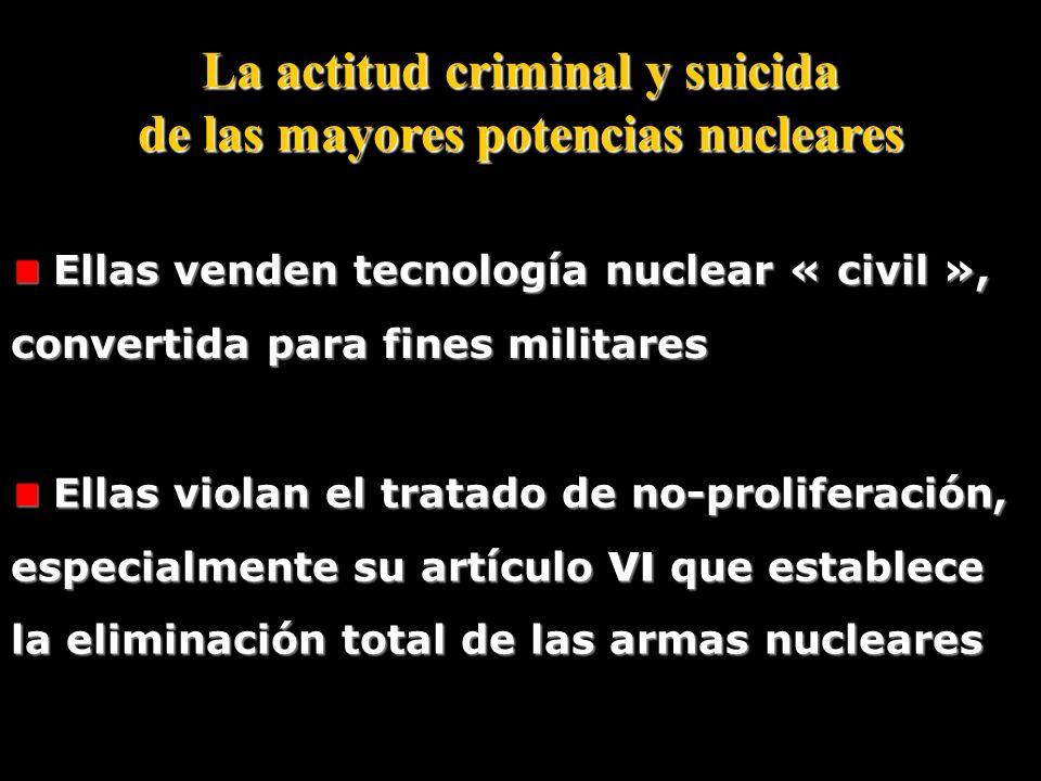 «… Para ser escuchados también es preciso, cuando sea necesario, ser capaces de hacer uso de la fuerza… Declaración de Jacques Chirac en enero 2006 a
