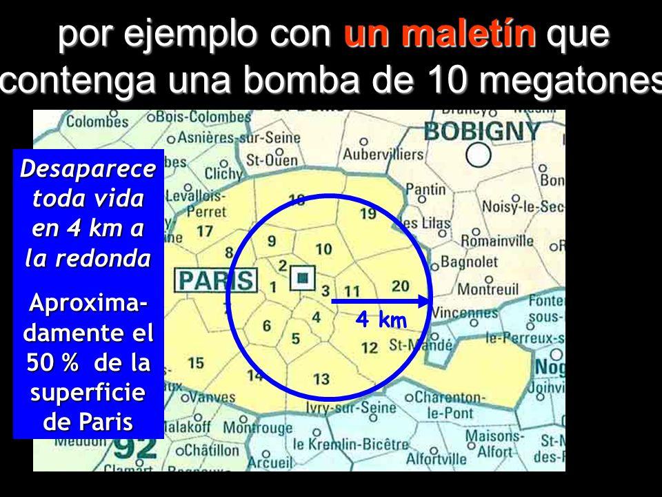 Hoy existen bombas atómicas muchísimo más potentes que aquellas empleadas en Hiroshima y Nagasaki,