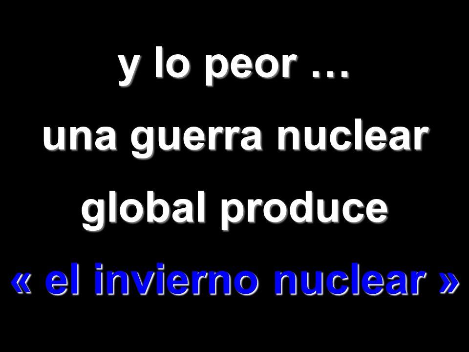 Una bomba de 10 megatones de TNT = 10 bombas como la de Hiroshima Provocaría quemaduras de 3er grado en un radio de 30 km ¡A la totalidad de los habit