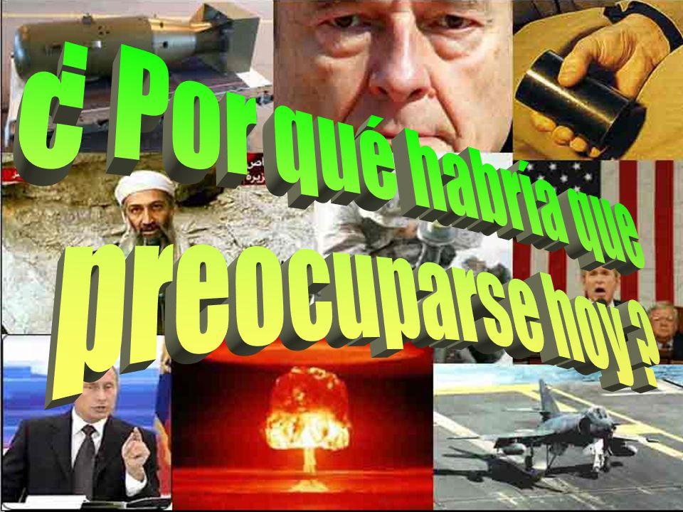 Estados Unidos 10 500 bombas Rusia 20.000 bombas Inglaterra 185 bombas Francia 450 bombas China 400 bombas ARMAS NUCLEARES EN EL MUNDO Países poseedor