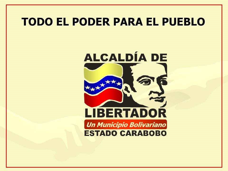 TODO EL PODER PARA EL PUEBLO Un Municipio Bolivariano