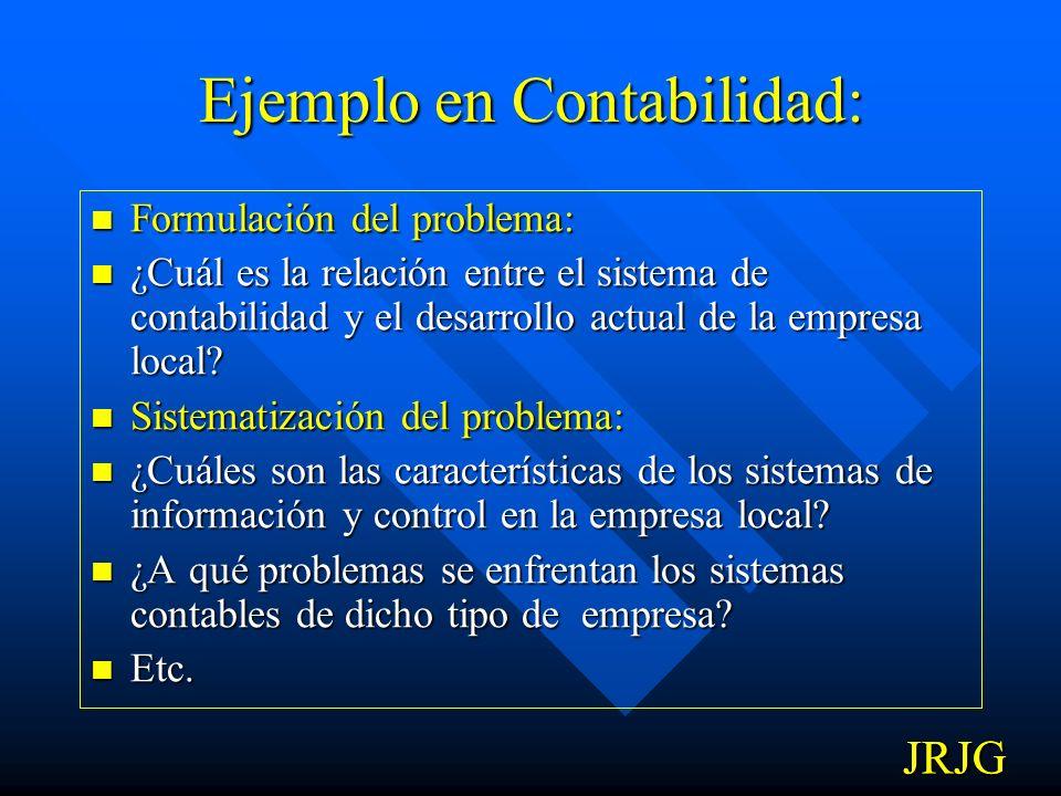 Ejemplo en Economía: Formulación del problema: Formulación del problema: ¿Qué factores influyen en la determinación del grado de desarrollo de la emrp