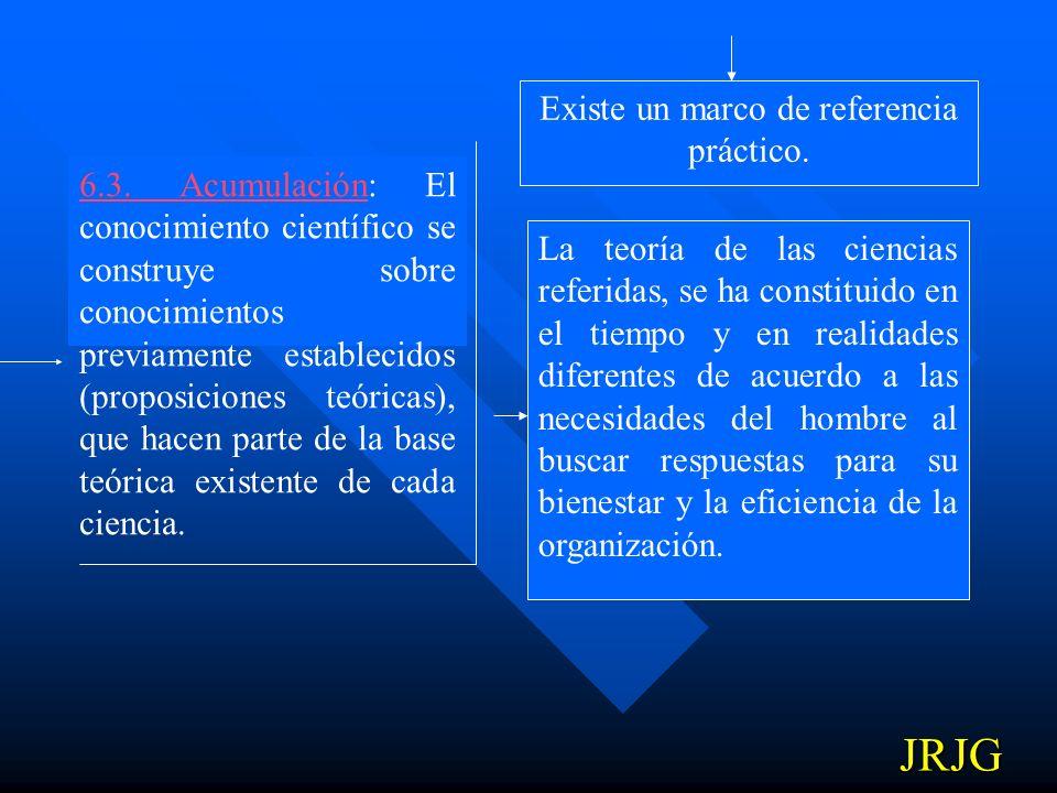 6.2. Relativismo: Las proposiciones teóricas están sujetas a verificación, revisión o al reemplazo por otras proposiciones de acuerdo con su referenci