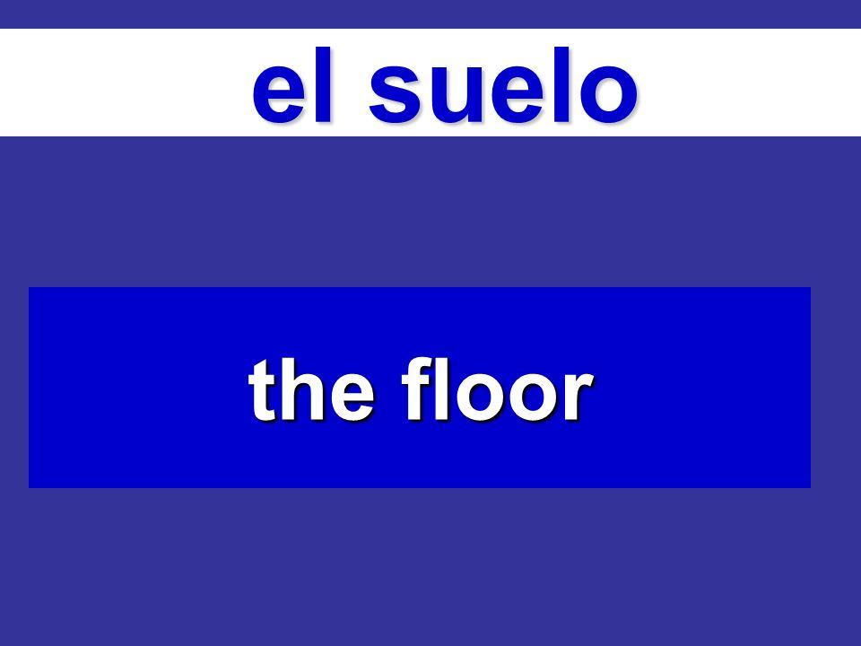 el suelo el suelo the floor