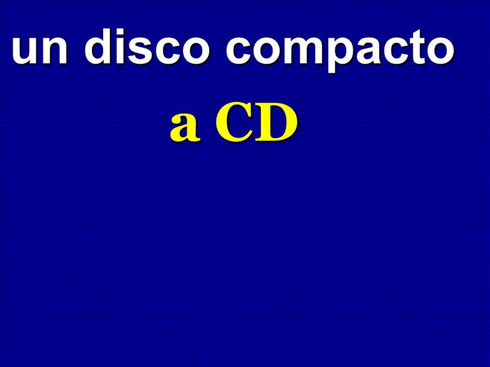un disco compacto a CD