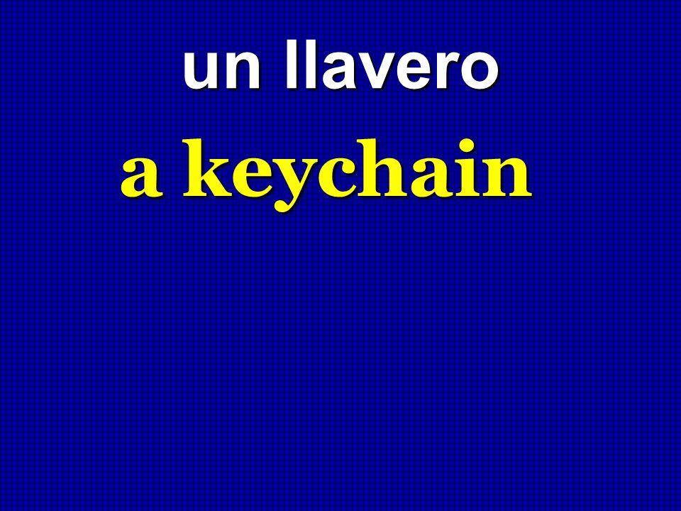un llavero a keychain