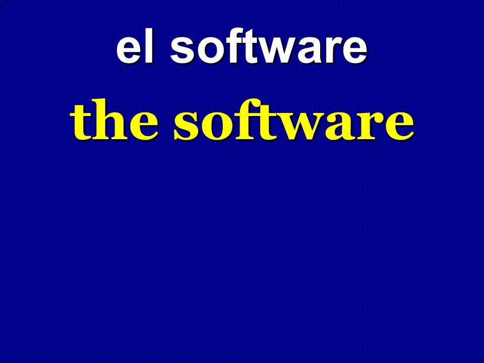 el software the software