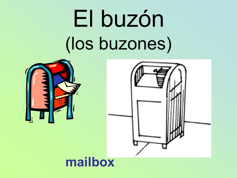 El buzón (los buzones) mailbox