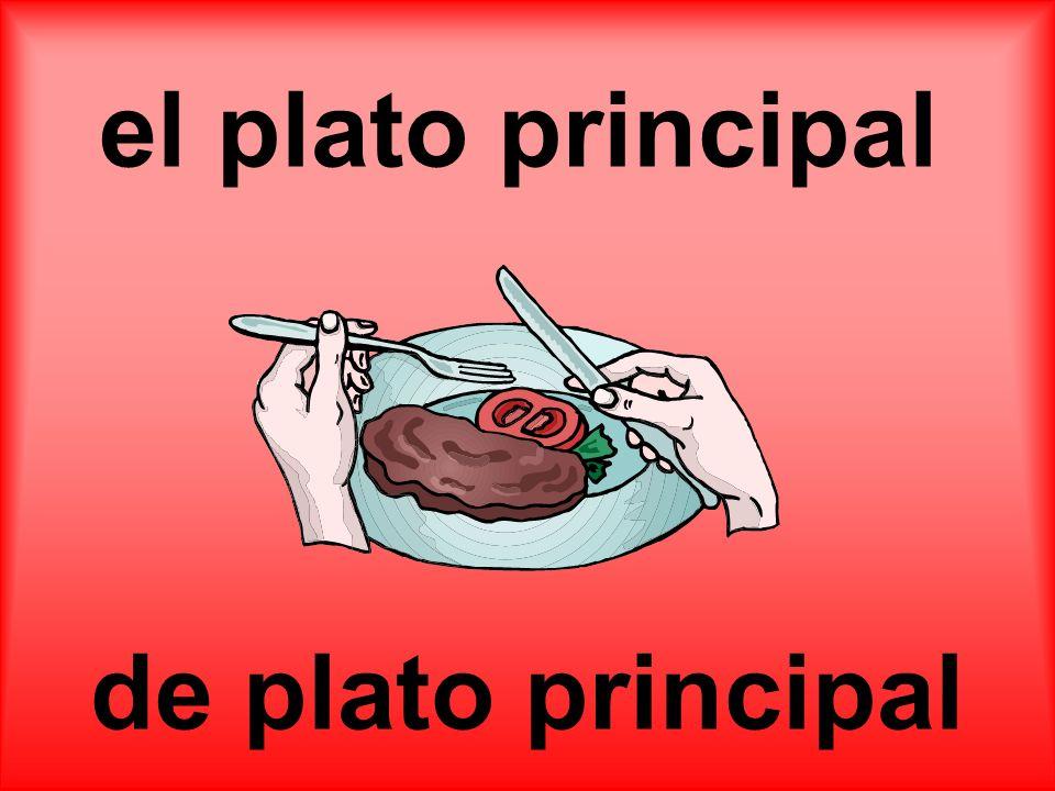 el plato principal de plato principal