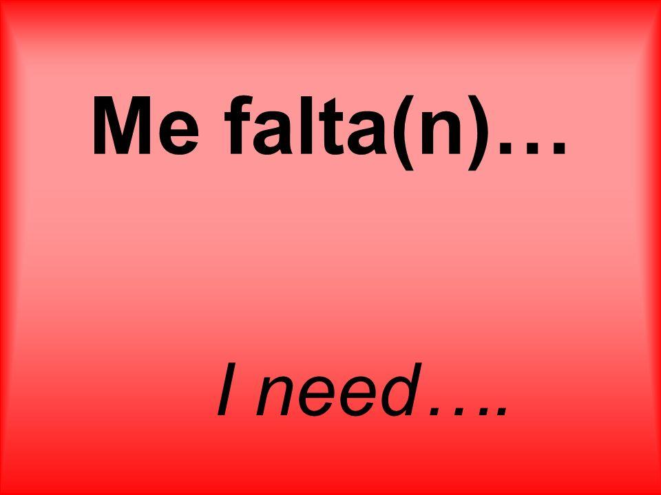 Me falta(n)… I need….