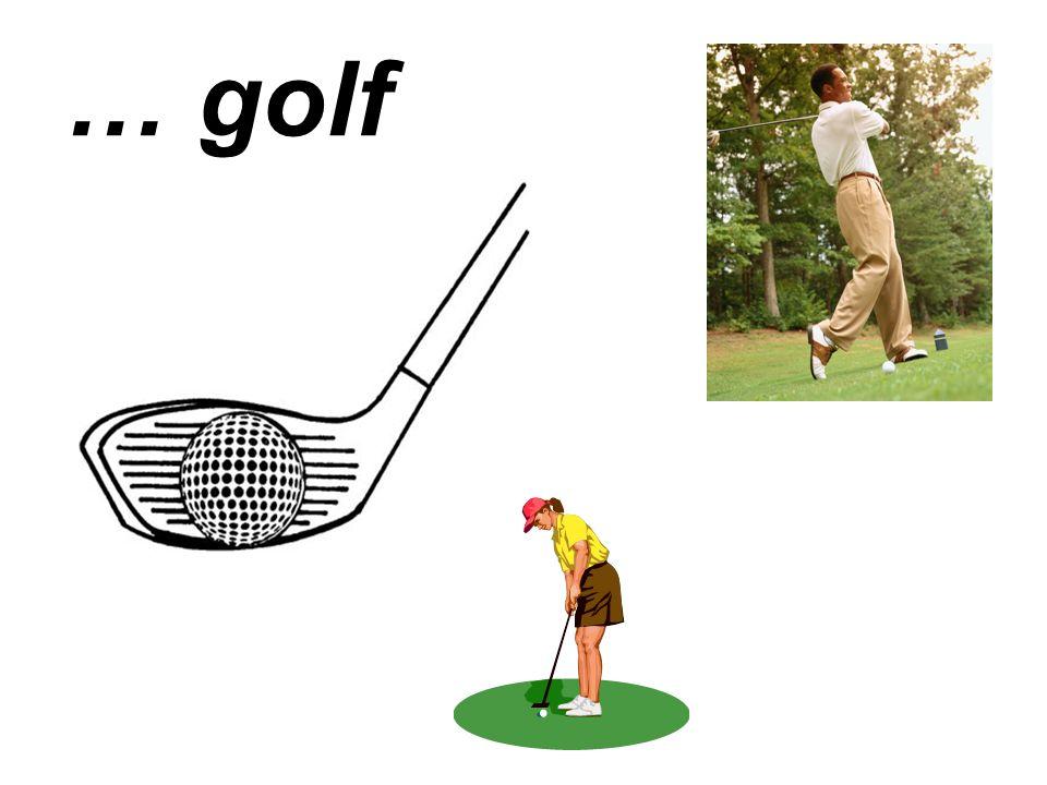 … golf