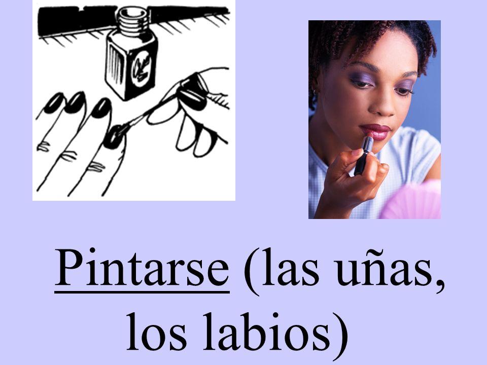 Pintarse (las uñas, los labios)