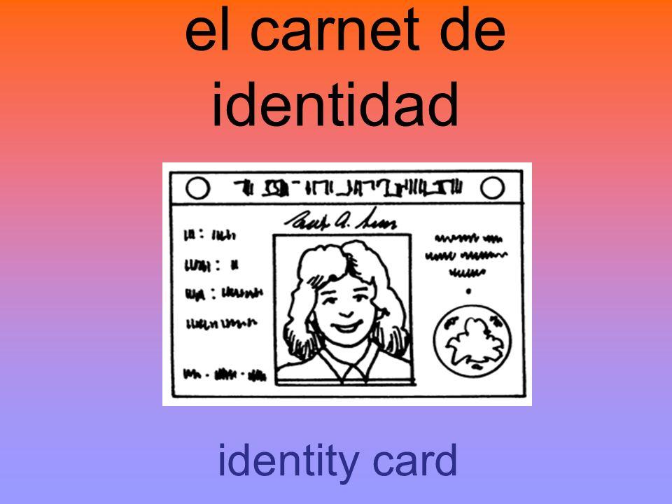 el carnet de identidad identity card