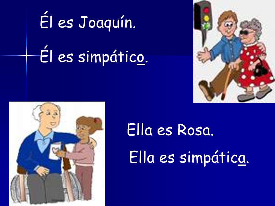 Es Mariana. Ella es pelirroja. Ella es tímida y seria. Es Juan Ramón. Él es pelirrojo. Él es tímido y serio.