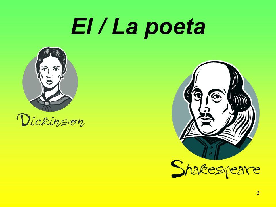 El / La escritor (a) Shakespeare 2