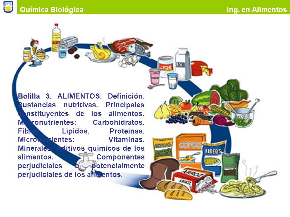 Alimentos Productos alimentarios Química BiológicaIng. en Alimentos