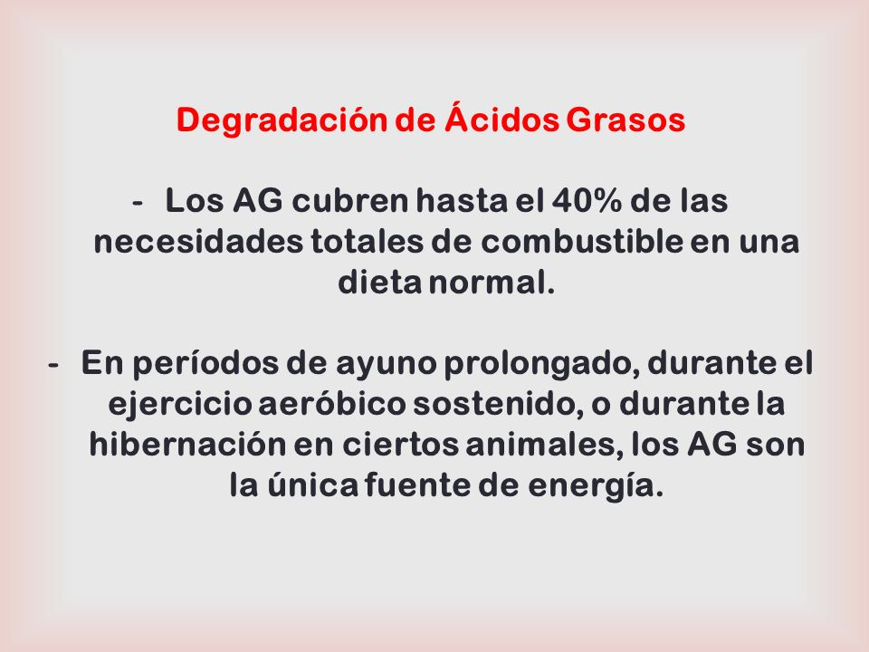 Degradación (β-Oxidación) de Ácidos Grasos Ocurre en tejidos como: Hígado, músculo esquelético, corazón, riñón, tejido adiposo, etc.
