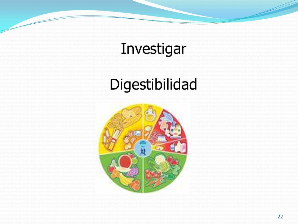 22 Investigar Digestibilidad