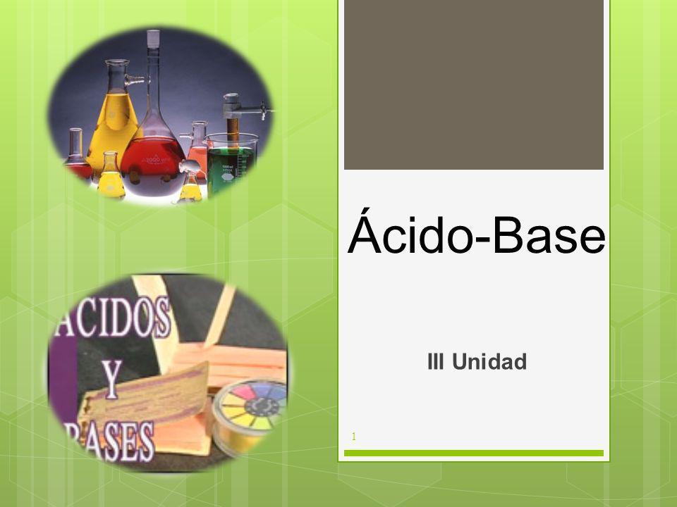Ácido-Base III Unidad 1