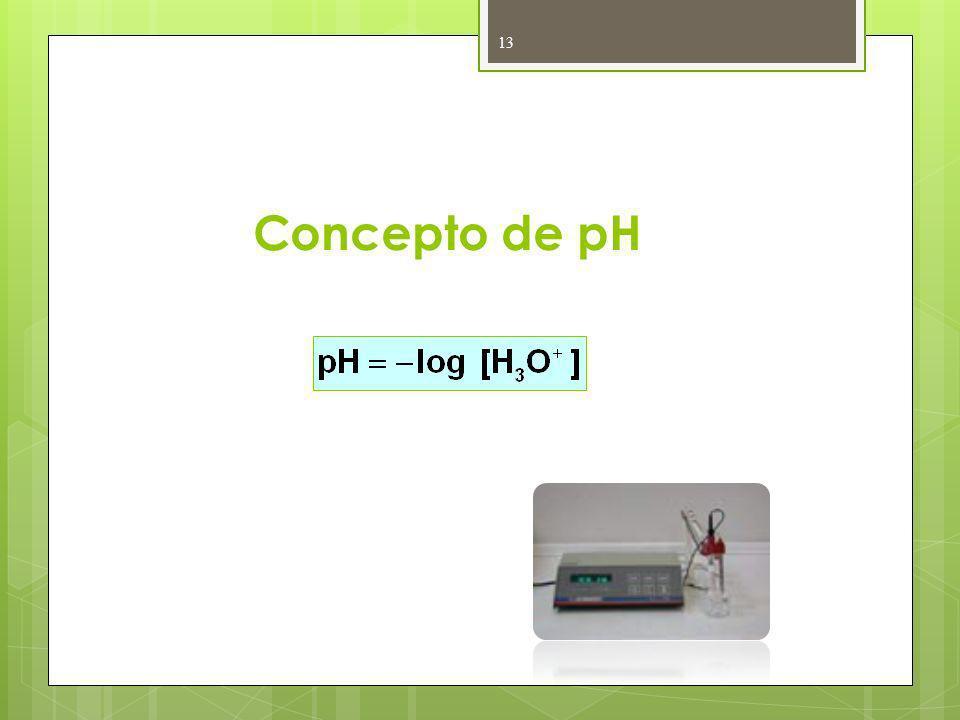 Concepto de pH 13