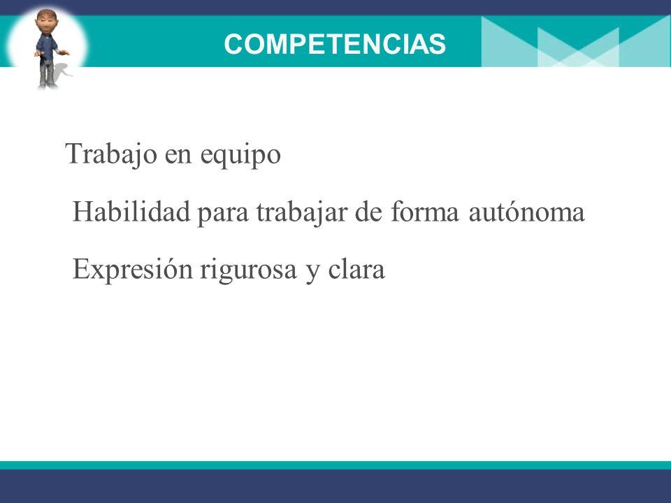 COMPETENCIAS Visualización e interpretación de soluciones Identificación y localización de errores Argumentación lógica en la toma de decisiones Razon