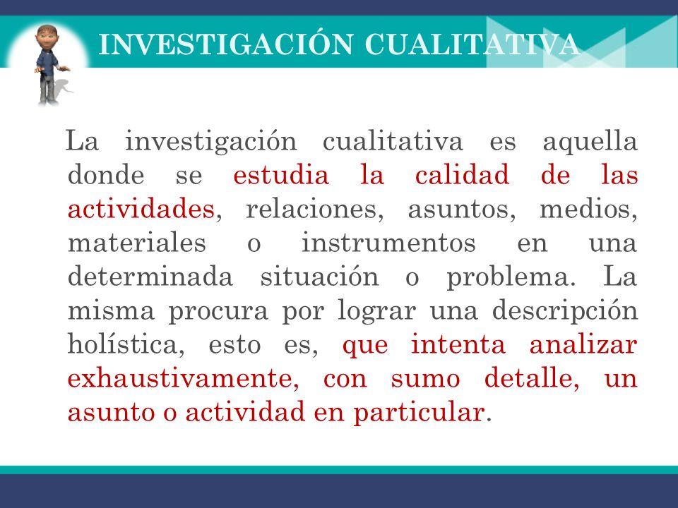 Métodos de Investigación Básicamente hay dos métodos de investigación Investigación Cualitativa Investigación Cuantitativa