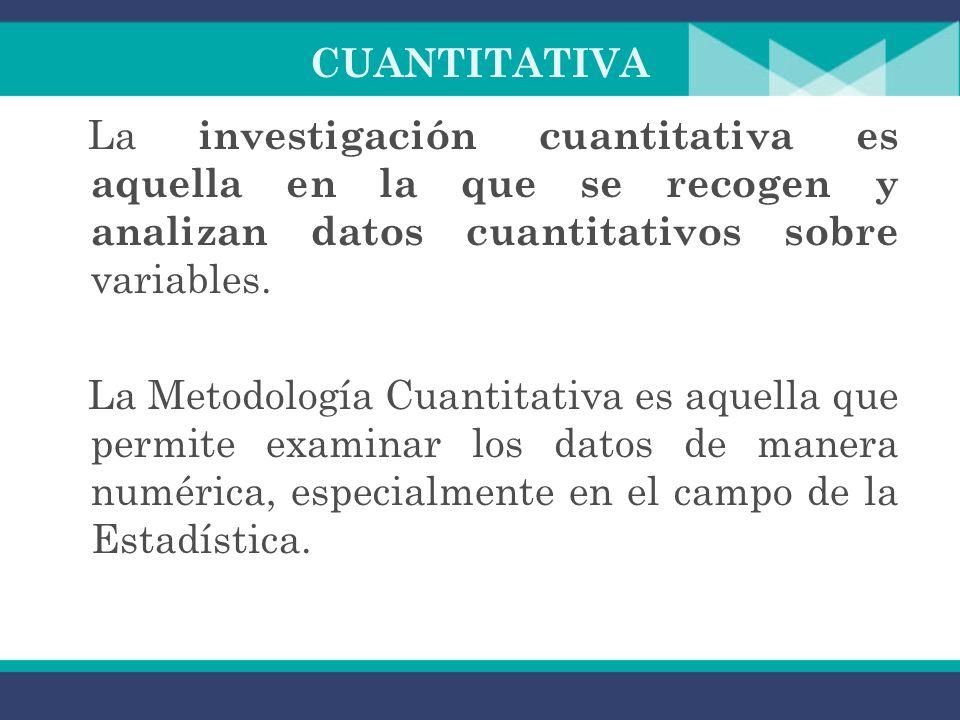 INVESTIGACIÓN CUALITATIVA La investigación cualitativa estudia grupos pequeños en los cuales sea posible la observación directa por parte del investig