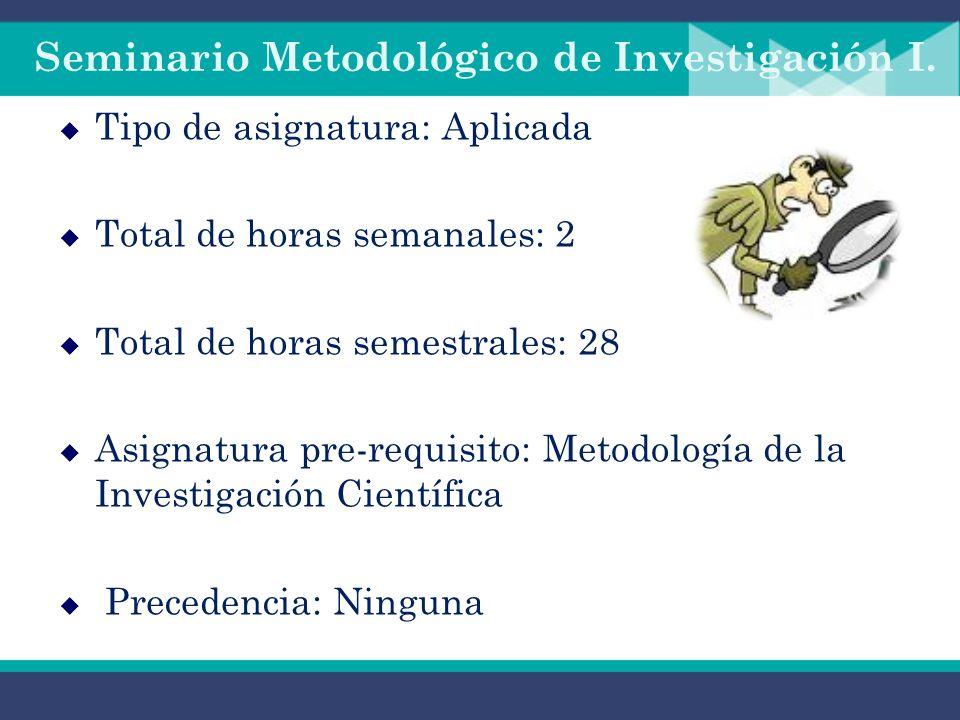 Seminario Metodológico de Investigación I Docente: Ing. Alba Díaz Corrales Fecha: 1 de septiembre 2010