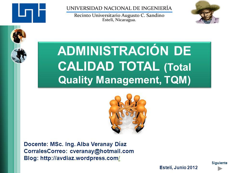 Contenido a desarrollar Origen y conceptos generales Aplicaciones TQM Prácticas tradicionales Principios de calidad total Contenido Objetivos, contenido y evaluación Siguiente Anterior