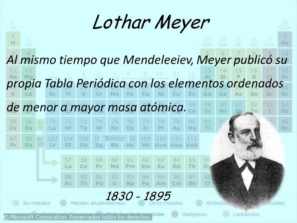 Clasificación de Mendeleiev 11