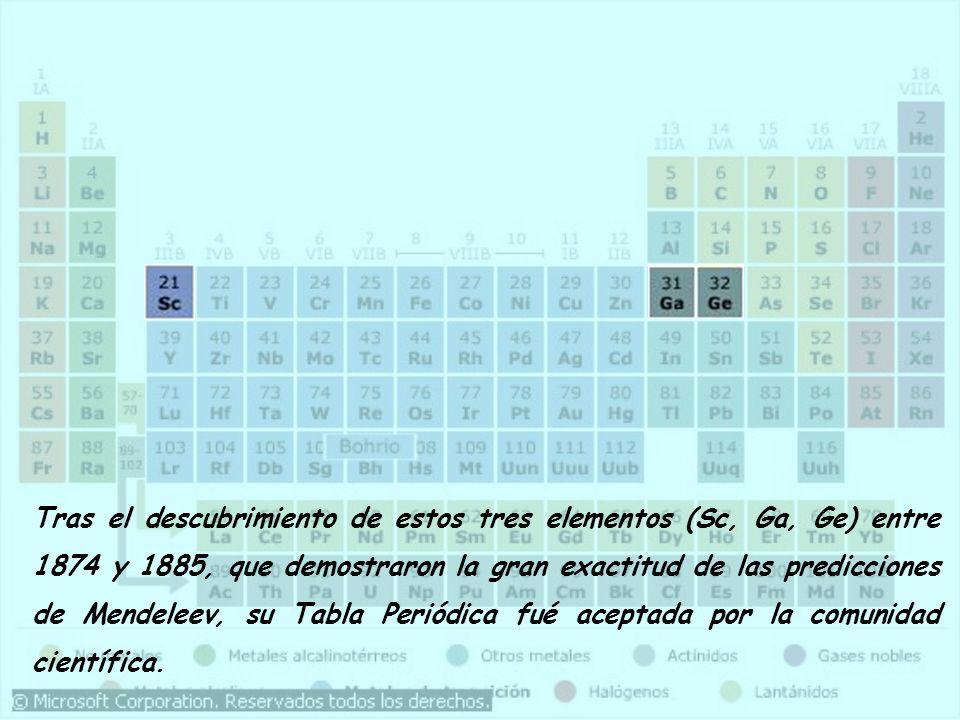 Propuso que si el peso atómico de un elemento lo situaba en el grupo incorrecto, entonces el peso atómico debía estar mal medido. Estaba tan seguro de
