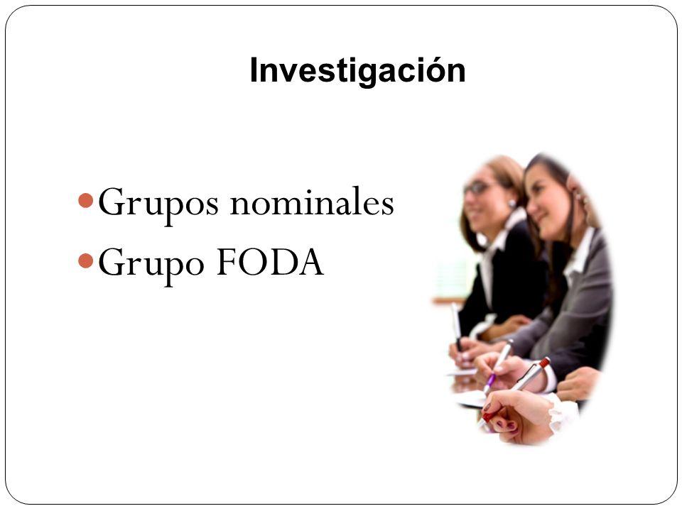 Investigación Grupos nominales Grupo FODA