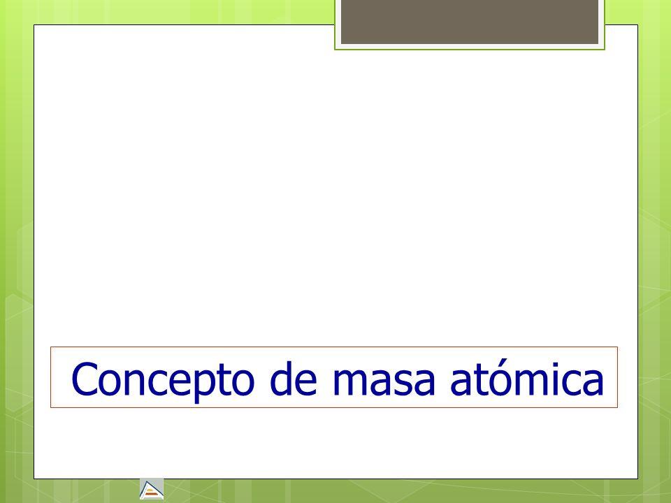 Concepto de masa atómica