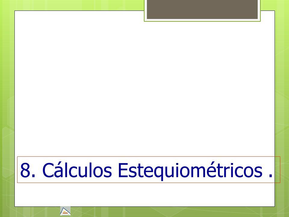 8. Cálculos Estequiométricos.