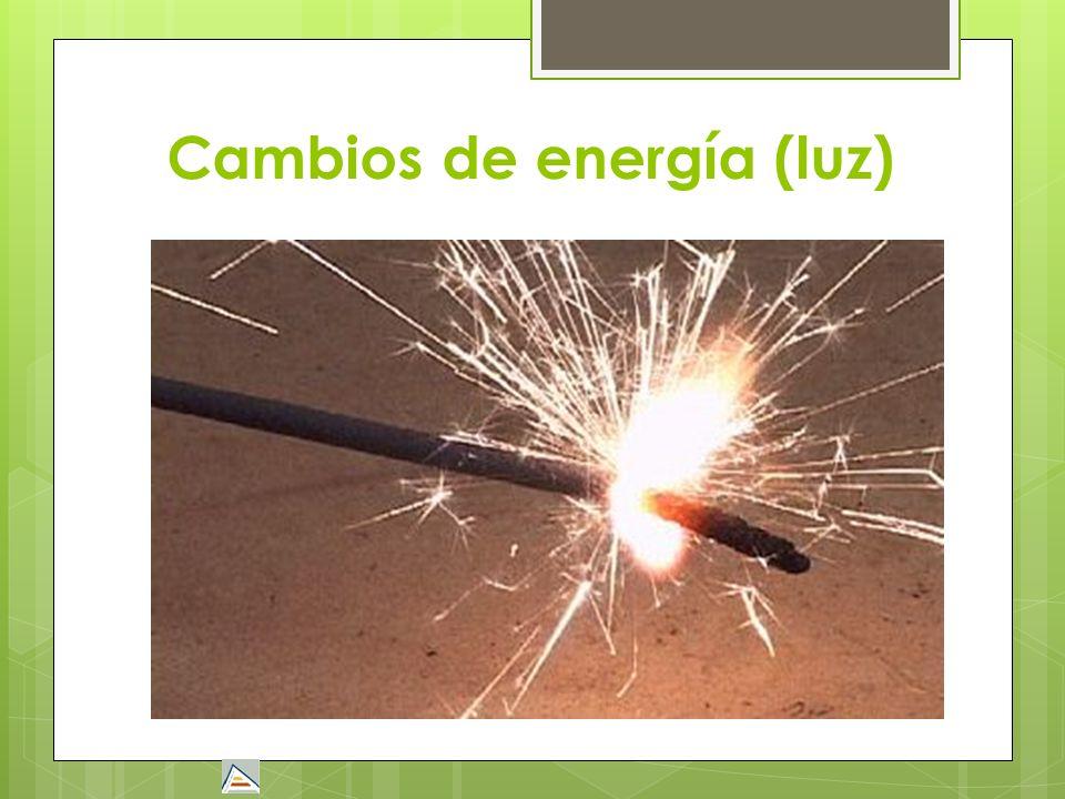 Cambios de energía (luz)