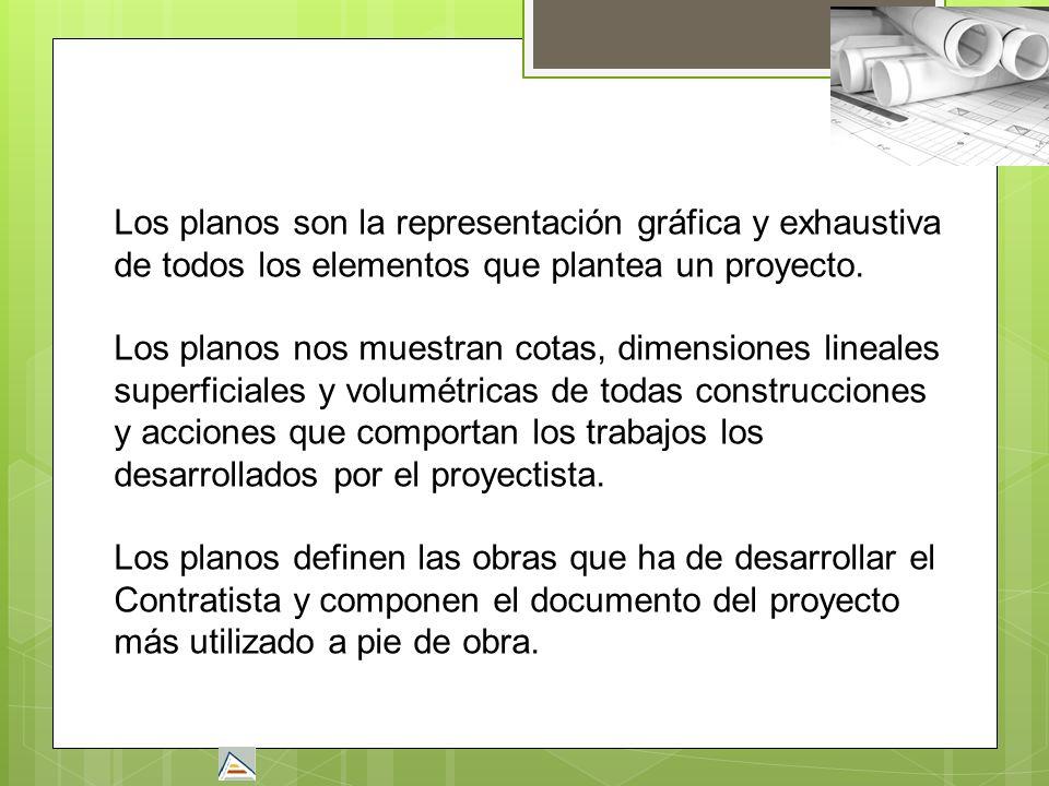 Los planos son la representación gráfica y exhaustiva de todos los elementos que plantea un proyecto. Los planos nos muestran cotas, dimensiones linea